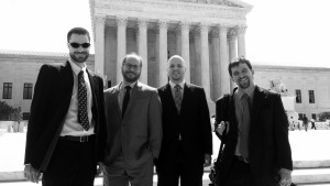 Picture of the captioned people outside the U.S. Supreme Court